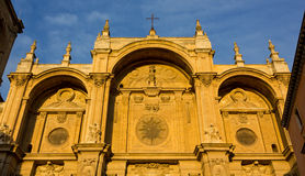 Facade of the Cathedral of Granada Royalty Free Stock Photos