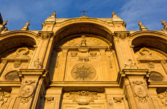Facade of the Cathedral of Granada Stock Images