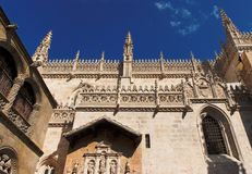 Facade of the cathedral of Granada, Spain Stock Photo