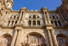 Facade of the Cathedral of Malaga Royalty Free Stock Photos