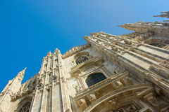 Facade of cathedral of Milan, Italy Stock Photo