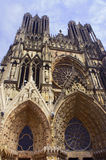 Facade of the cathedral of Notre-Dame Royalty Free Stock Photo