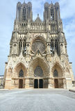 Facade of the cathedral of Notre-Dame de Reims Royalty Free Stock Images