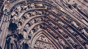 Facade Cathedral Notre-Dame Strasbourg Royalty Free Stock Image