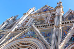Facade of Cathedral, Orvieto, Italy Royalty Free Stock Photography