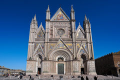 Facade of the Cathedral of Orvieto Stock Images