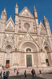 Facade of The Cathedral in Orvieto Royalty Free Stock Photos