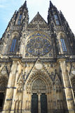 Facade of Cathedral of Saint Vitus, Prague Stock Photo