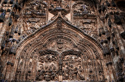 Facade of the Cathedral Salamanca Stock Photography