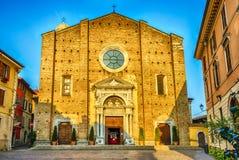 Facade of the Cathedral in Salo, Lake Garda, Italy Stock Photo
