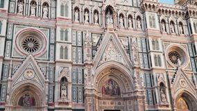 Facade of the Cathedral of Santa Maria del Fiore. Florence Italy stock video
