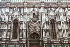 Facade of the Cathedral of Santa Maria del Fiore, fragment. Florence, Stock Photos