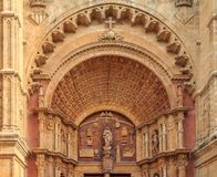 Facade of the Cathedral of Santa Maria of Palma & x28;Cathedral of St royalty free stock image