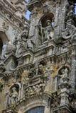 Facade of Cathedral of Santiago de Compostela Stock Photography