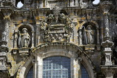 Facade of Cathedral of Santiago de Compostela Royalty Free Stock Images