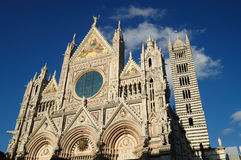 The facade of the Cathedral of Siena Stock Photo