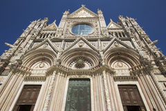 Facade of the cathedral in siena Royalty Free Stock Images