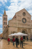 Facade. Cathedral of St Anastasia. Zadar. Croatia. Stock Photo