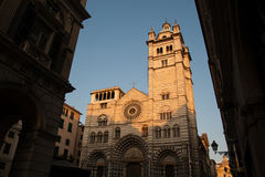 Facade of the cathedral of St. Lawrence, Italy Royalty Free Stock Photography