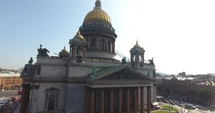 St. Isaac`s Cathedral in St. Petersburg stock video footage
