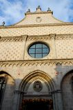 Facade of the cathedral of Vicenza in Veneto Italy Royalty Free Stock Photo