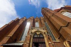 Facade of a cathedral in Wroclaw Poland Stock Photos