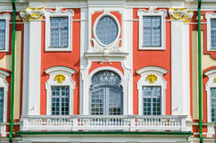 Facade of the Catherine Palace in the park Kadriorg Royalty Free Stock Photo