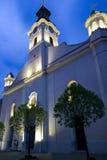 The facade of the Catholic church. Royalty Free Stock Photo