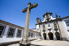 Facade of a Catholic church in Guimaraes - Portugal Stock Image