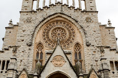Facade of the Catholic Church Royalty Free Stock Images