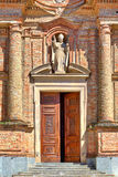 Facade of catholic church in Italy. Royalty Free Stock Photography