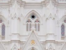 Facade of catholic church Our Lady of Ransom Shrine stock photos