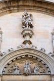 Facade of the Catholic Church in Palma de Mallorca. Closeup Stock Images