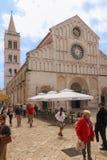 facade Cattedrale della st Anastasia Zadar La Croazia fotografia stock