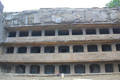 The facade of Cave No 12, Ellora Caves, India Stock Photography