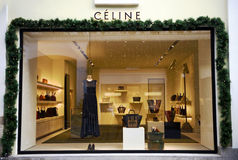 Facade of Celine flagship store Stock Photo