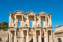Facade Celsius Library in Ephesus, Turkey Royalty Free Stock Photos