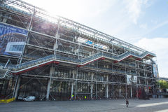 Facade of the Centre Georges Pompidou in Paris Royalty Free Stock Photos