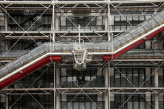 Facade of Centre Pompidou museum in Paris Royalty Free Stock Photos