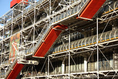 Facade of the Centre Pompidou in Paris Royalty Free Stock Image