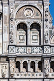 Facade of the Certosa di Pavia monastery, Italy Stock Images
