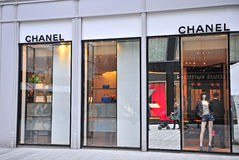 Facade of Chanel store in the street of Vienna Royalty Free Stock Photography