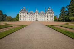 Facade of Chateau Cheverny in France royalty free stock images