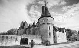Facade Chateau de Fougeres-sur-Bievre Στοκ εικόνες με δικαίωμα ελεύθερης χρήσης