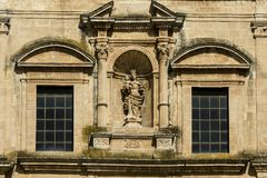Facade of Chiesa del Carmine in Modica. Royalty Free Stock Photography