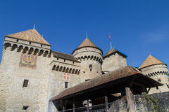 Facade of Chillon Castle Stock Image
