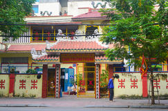 Facade of Chinese pagoda in Vietnam Stock Images