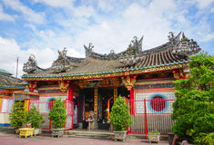 Facade of Chinese pagoda in Vietnam Royalty Free Stock Image