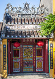 The facade of Chinese temple in Hoi An, Vietnam Royalty Free Stock Image