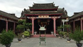 Facade of Chinese temple in Ninh Thuan, Vietnam stock video